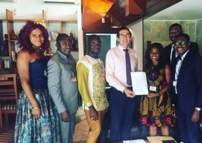 Communities and CS met with the Ambassador of France