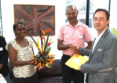 """Communities and Civil Society representatives hand over the """"love"""" letter to Andrew Dollimore – First Secretary"""