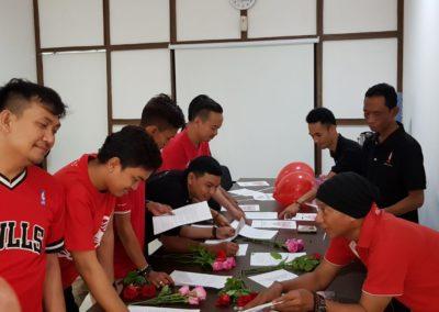 Spiritia team preparing the letters
