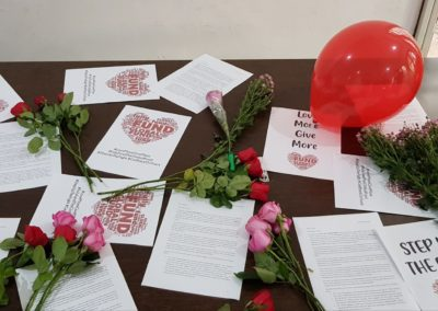 Love letters prepared to be sent to the embassies