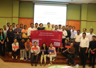 Cambodian Team of Communities & CS supporting a Fully Funded Global Fund
