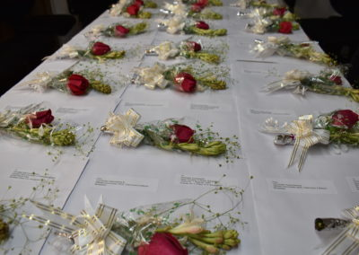 Bangladesh: Roses accompanying the individual letters to the Embassies