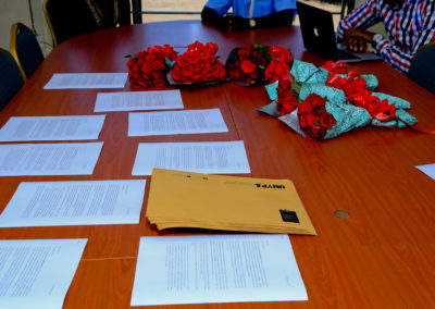 Flowers and the letters for the Embassy Visits