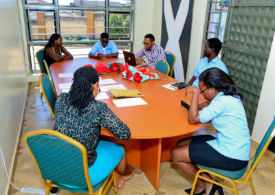 Team Meeting before the embassy hop on the 14th Feb 2019