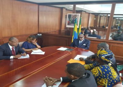 Communities and CS representatives with the Vice President of Gabon