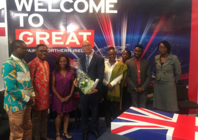 With the Ambassador of UK