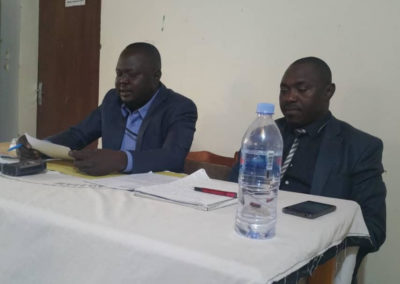 Press conference organized by the Chad Communities and CS