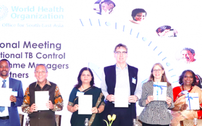 Community capacity building modules to accelerate MDR-TB response launched at WHO/SEARO meeting of national TB programme managers and partners