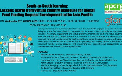 South-to-South Learning: Lessons Learnt from Virtual Country Dialogues for Global Fund Funding Request Development in the Asia-Pacific