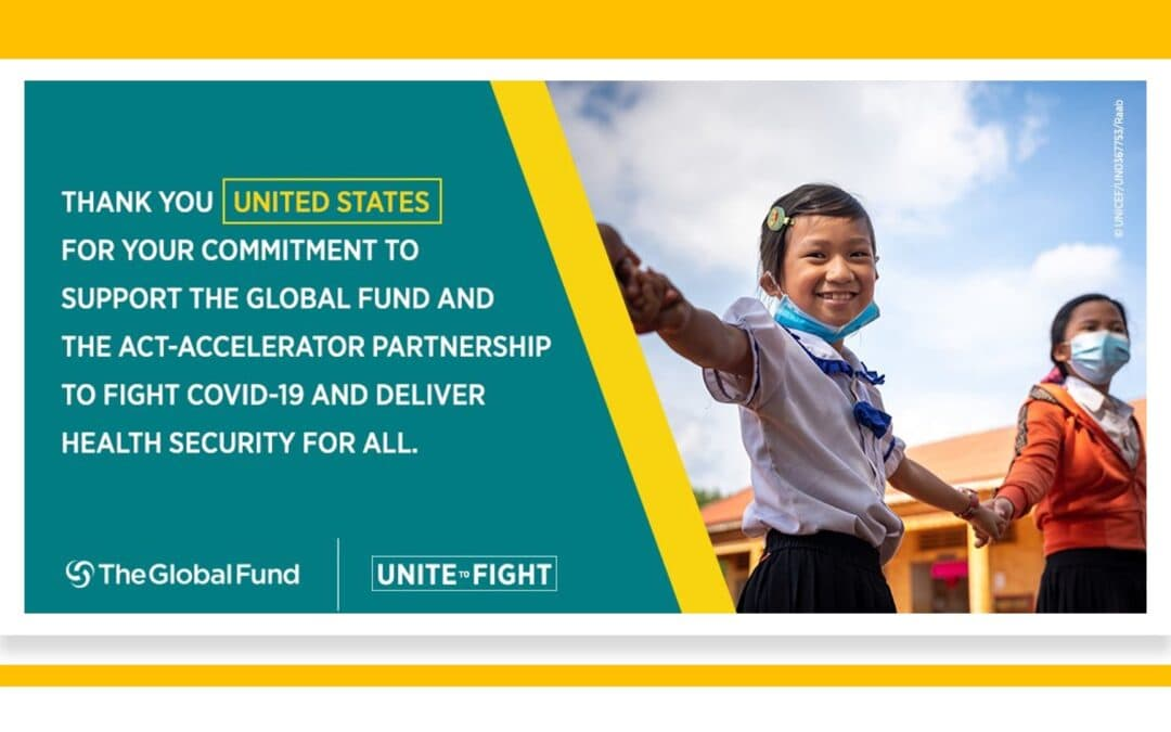 Thank You United States for the $3.5 billion Emergency Investment to the Global Fund!